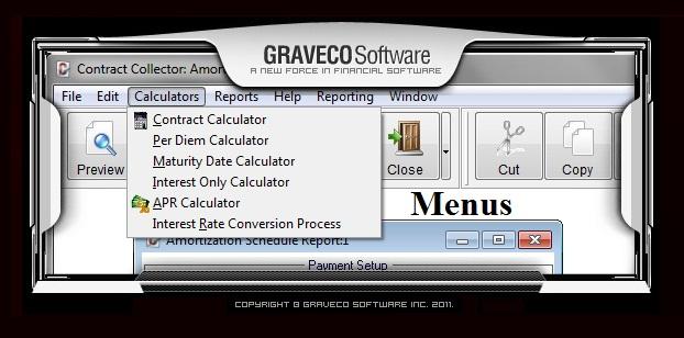 amortization schedule loan calculator graveco software inc